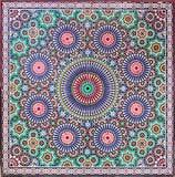 Tejas de Zellige de Marruecos Imagen de archivo