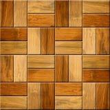 Tejas decorativas de madera - piso del casete - réplica continua fotografía de archivo