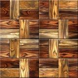 Tejas decorativas de madera - piso del casete - réplica continua fotos de archivo
