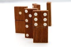 Tejas del dominó Imagen de archivo libre de regalías