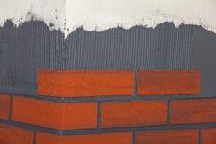 Tejas del ladrillo en las paredes Fotografía de archivo