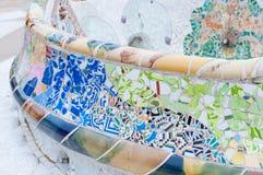 Tejas del parque de Guell en Barcelona Imagen de archivo libre de regalías