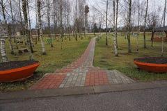 Tejas del sendero en el parque Fotografía de archivo libre de regalías