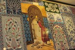 Tejas del turco de Pano Fotos de archivo