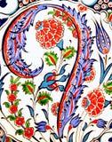Tejas flor-modeladas turco Imagen de archivo libre de regalías