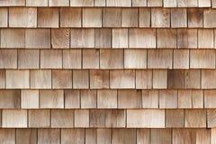 Tejas hechas de tablones de madera Foto de archivo
