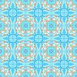 Tejas portuguesas del azulejo Modelo inconsútil de la acuarela Imágenes de archivo libres de regalías