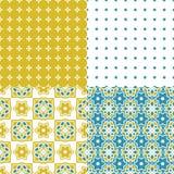 Tejas portuguesas del azulejo Modelos inconsútiles Imagen de archivo