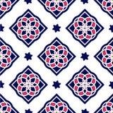 Tejas portuguesas del azulejo Modelos inconsútiles Imagenes de archivo