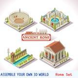 04 tejas romanas isométricas Fotografía de archivo libre de regalías