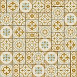 Tejas turcas del modelo inconsútil magnífico, marroquíes, portuguesas blancas, Azulejo, ornamento Foto de archivo libre de regalías
