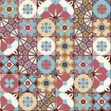 Tejas turcas del modelo inconsútil, marroquíes, portuguesas blancas, Azulejo, ornamento árabe ilustración del vector