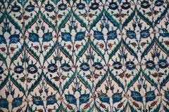 Tejas turcas hechas a mano antiguas del otomano imagen de archivo libre de regalías