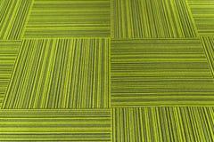 Tejas verdes de la alfombra Fotografía de archivo