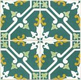 Tejas verdes portuguesas del vintage Fotografía de archivo