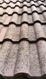 Tejas viejas en un tejado Foto de archivo libre de regalías
