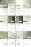 Tejas y el negro colorearon el calendario geométrico 2016 de los modelos Stock de ilustración