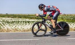 骑自行车者Tejay van Garderen 免版税图库摄影