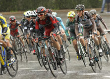 Tejay van Garderen of BMC Racing Team. Rides during the Tour of Catalonia cycling race through the streets of Monjuich mountain in Barcelona on March 30, 2014 Royalty Free Stock Photo