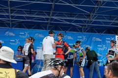 Tejay Van Garderen 2013 Tour of California. Amgen Tour of California Winner Tejay Van Garderen from the BMC team at the 2013 Amgen Tour of California on stage Royalty Free Stock Image