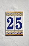 Teje con el número veinticinco Imagenes de archivo