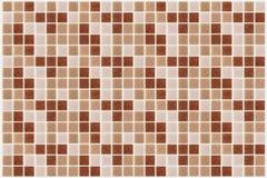 Teje el cuadrado del mosaico adornado con el backg rosado rojo de la textura del brillo Foto de archivo