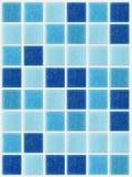 Teje el fondo azul cuadrado de la textura del mosaico adornado con brillo Imágenes de archivo libres de regalías
