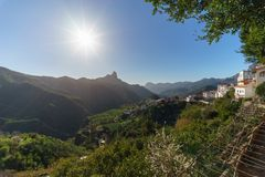 Tejeda village in the mountains of Gran Canaria, Canary islands, Stock Photography