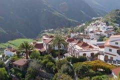 Tejeda, mooi dorp in de bergen van Gran Canaria stock foto