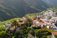Tejeda village in the mountains of Gran Canaria, Canary islands, Stock Image