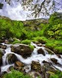 Tejo. Canal, Bulnes, Picos de Europa Natural Park, Spain Stock Image