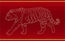 tejpad tigern Arkivfoton