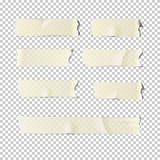 Tejpuppsättning på genomskinlig bakgrund realistisk illustration för vektor vektor illustrationer