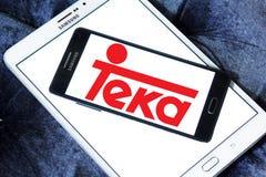Teka-Firmenlogo stockfotos