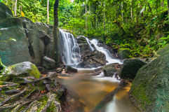 Tekala Waterfall. This among popular waterfall in selangor, malaysia Royalty Free Stock Photos