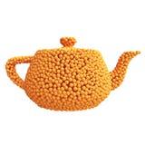 Tekanna av apelsiner Vektor Illustrationer