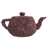 Tekanna av kaffebönor Royaltyfri Illustrationer