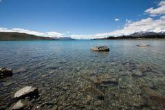Tekapo della Nuova Zelanda, lago Fotografia Stock Libera da Diritti