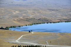 Tekapo lake landscape in NZ. Royalty Free Stock Photo