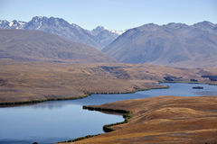 Tekapo lake landscape in NZ. Royalty Free Stock Photo