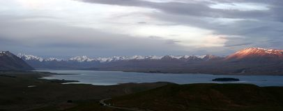 tekapo neuf la zélande de panorama de lac Image stock