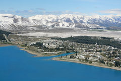 Tekapo, New Zealand Aerial View Stock Photos