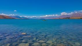 Tekapo van het meer in Nieuw Zeeland royalty-vrije stock fotografie