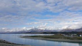 Tekapo van het meer in Nieuw Zeeland stock foto's