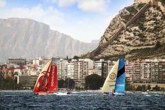 Volvo Ocean Race Teams fighting Stock Photo