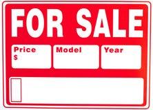 Teken âFor Saleâ met Extra Gebieden Royalty-vrije Stock Afbeeldingen