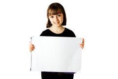 Teken 1 van de Holding van het meisje Stock Afbeeldingen