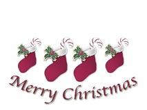 Teken 1 van de Kous van Kerstmis Stock Illustratie