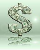 Teken 11 van de dollar Royalty-vrije Stock Foto's