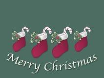 Teken 2 van de Kous van Kerstmis Royalty-vrije Illustratie